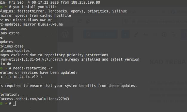 Kad treba restartati linux (RHEL/CentOS) računalo?