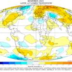 Globalna anomalija temperature (UAH, LT) za studeni 2020: +0,53°C