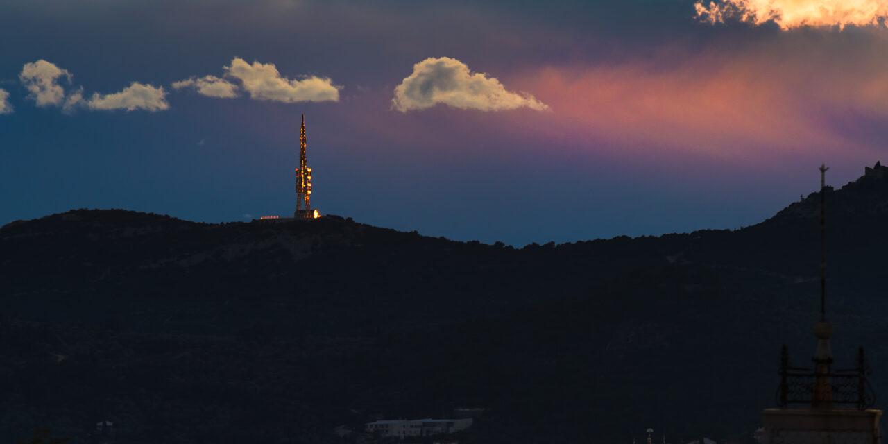 Konvekcija nad Jadranom u zalaz Sunca