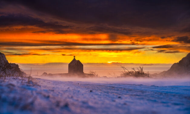 Velebitsko predvečerje zadnjeg dana siječnja 2021.