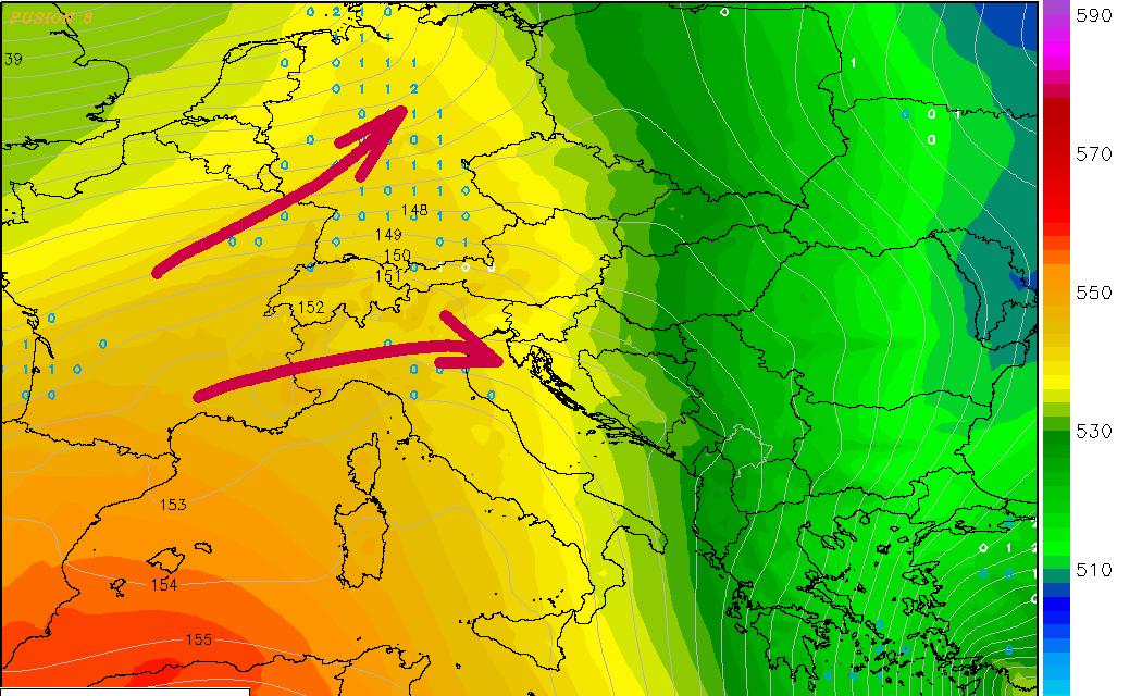 Nakon hladnog vikenda, nova promjena vremena s toplom frontom i oborinama sredinom tjedna