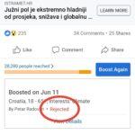 Facebook u akciji negiranja mjerenja meteoroloških podataka (ažurirano!)