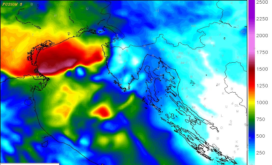 Mogućnost izraženog nevremena na sjevernom Jadranu
