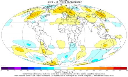 Globalna anomalija temperature (UAH, LT) za srpanj 2021: +0,20°C
