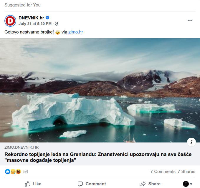 Rekordno topljenje leda na Grenlandu – stvarnost ili mit?